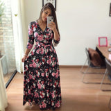 Bohemia Tunic Flowers Print maxi dress