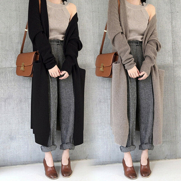 Winter Warm Knitted Cardigan Long Sweater
