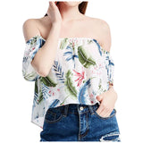 Chiffon Cold Shoulder  Casual Short Sleeve Blouse