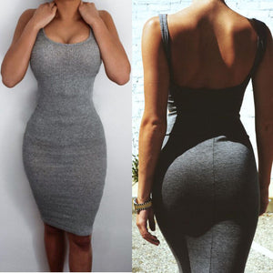 Summer  Bodycon  Cocktail Split Mini Dress