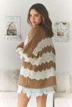 Load image into Gallery viewer, Clove Knit - Biscuit Stripe