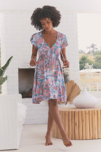 Faithful Mini Dress - Rainbow Sherbet