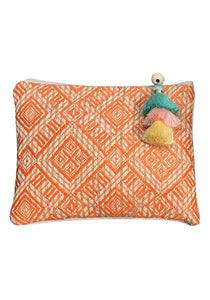 Carry All Pouch with Tassel - Orange
