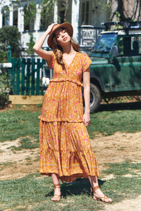 Ina Maxi Dress - Saffron