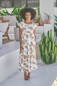 Juicy Maxi Dress - Ivory Palm Springs