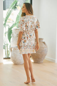 Noa Mini Dress - White Iris