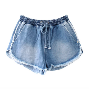 Layla Denim Shorts - Medium Blue