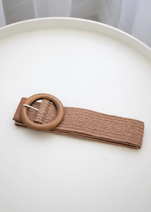Wilma Belt - Cocoa (Timber buckle)