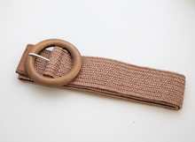 Load image into Gallery viewer, Wilma Belt - Cocoa (Timber buckle)