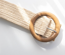 Load image into Gallery viewer, Betty Belt - Beige (Timber buckle)