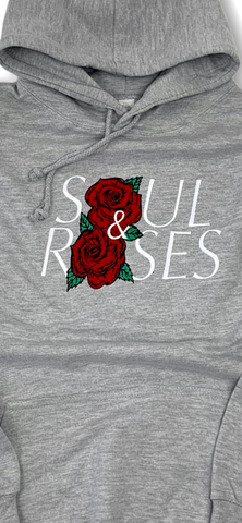 Heather Grey Two Roses Hoodie