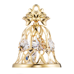 24K gold plated wedding bell with Swarovski