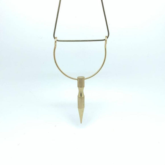 Brass Spike Necklace