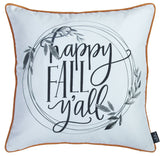 "Fall Thanksgiving Quote Square 18"" Throw Pillow Cover (Set of 2)"