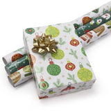 "White/Multi ""Ugly Xmas Sweater & Ice Skates"" Wrapping Paper Sheets"