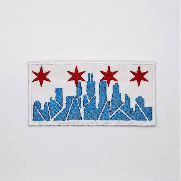 Chicago Skyline Embroidered Iron-on Patch