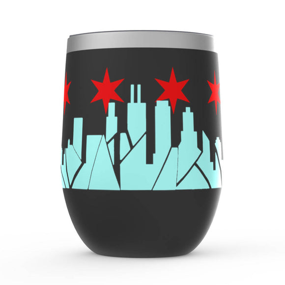 Chicago Skyline Stemless Wine Tumblers