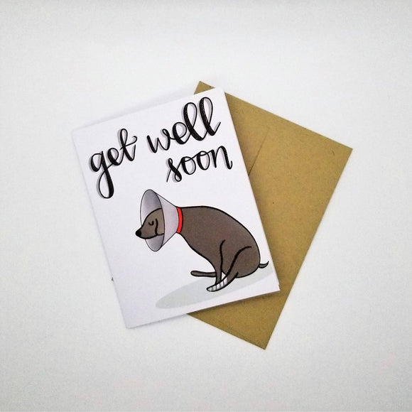 Get Well Soon - Digitally Designed Greeting Card