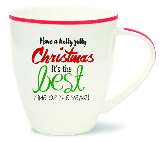 Christmas Words Mugs: Holly Jolly Christmas Mug