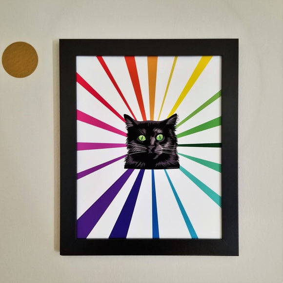 Black Prism Cat Wall Art Print