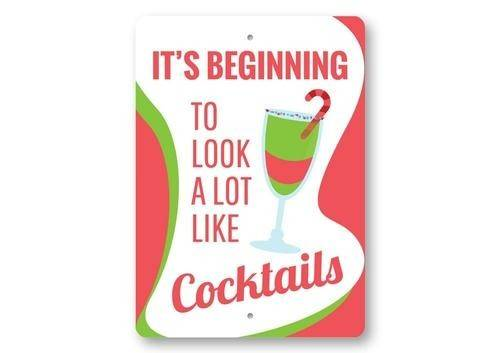 Christmas Cocktails Sign