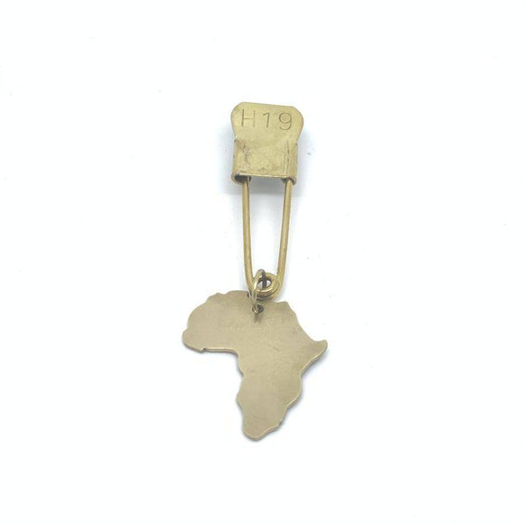 Vintage Laundry Pin w/ Africa Dangle Pin
