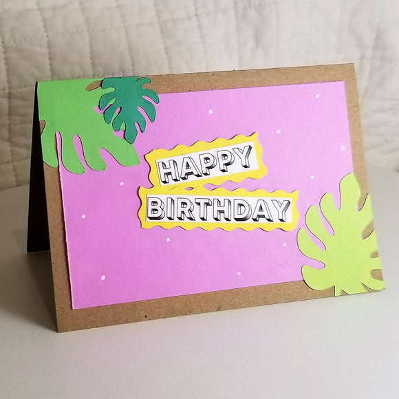 Monstera Birthday Cards