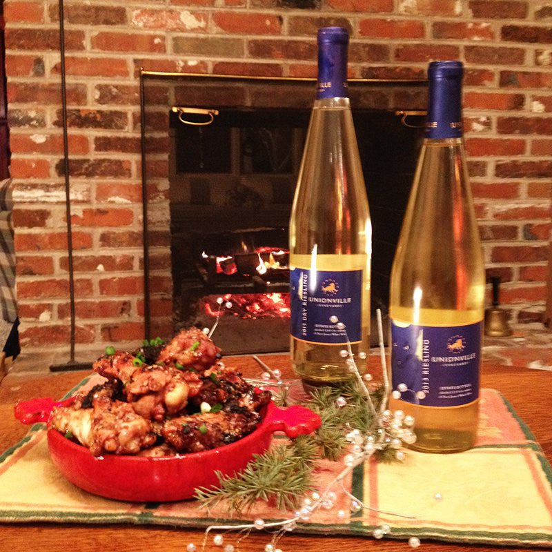 Unionville's Award Winning Rieslings Paired with Chicken Adobo Wings