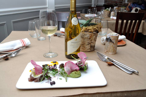 New Jersey wine at farm to table restaurant