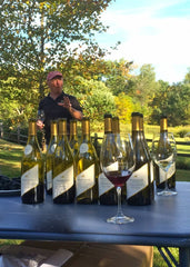 Cam leading a tasting of single vineyard wines at the Pheasant Hill Vineyard