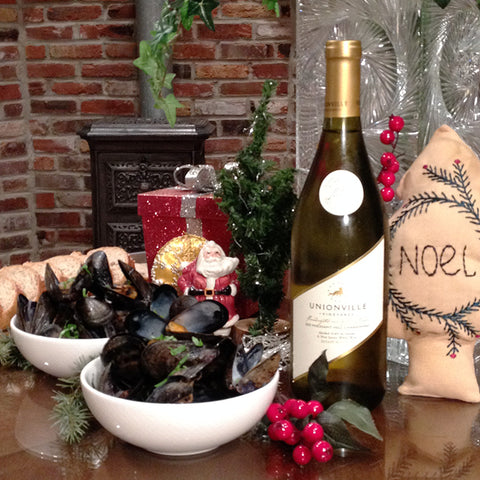 Pheasant Hill Chardonnay paired with Delicious Mussels