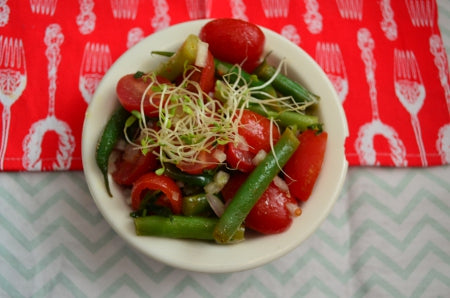 tarragon tomato salad with fields of fire