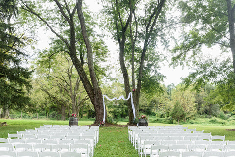 The wedding ceremony site at Unionville Vineyards