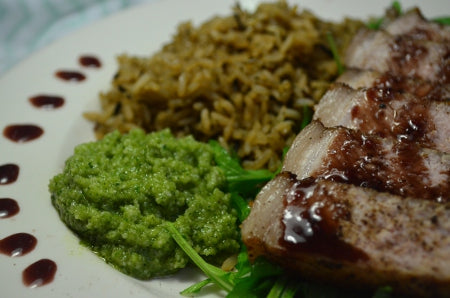 Pork loin chops with pomegrate reduction recipe