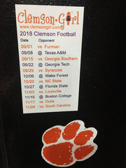 2018 Clemson Football Schedule Magnet