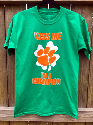 Kiss Me I'm a Champion t-shirt