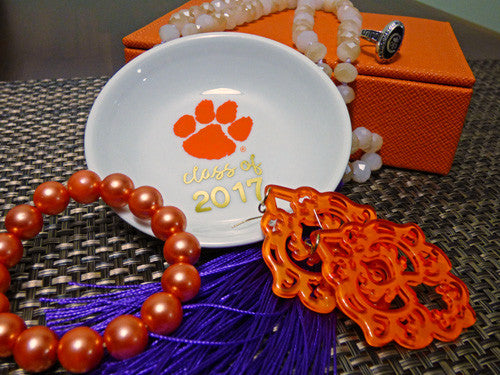 Clemson Graduation Year ring dish - Round