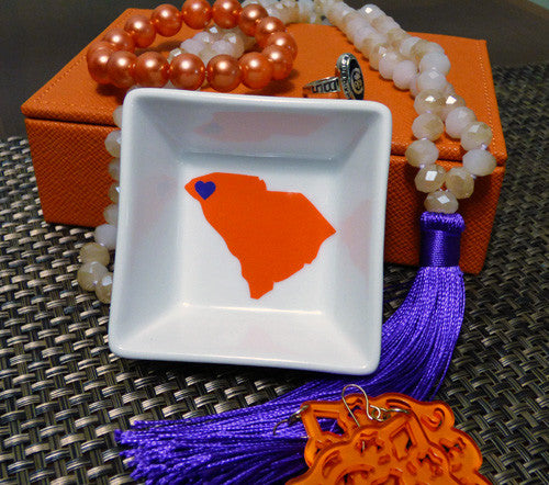 South Carolina state pride ring dish