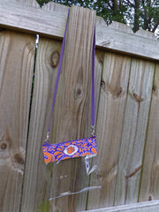 Clemson clear crossbody gameday purse