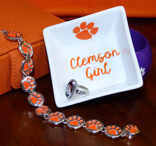 Clemson Girl Ring Dish
