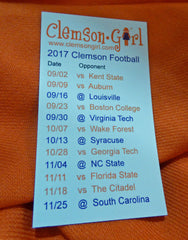 2017 Clemson Football Schedule Magnet
