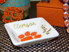 Clemson Ring & Sparkly Things ring dish