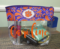 Clear Clemson Makeup Bag