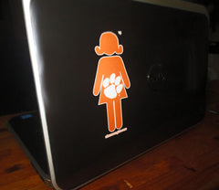 Clemson 'just a girl' decal