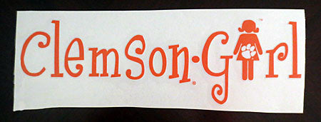 Clemson Girl Decal