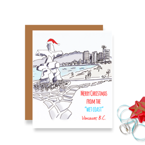 Inukshuk Merry Christmas Vancouver Card