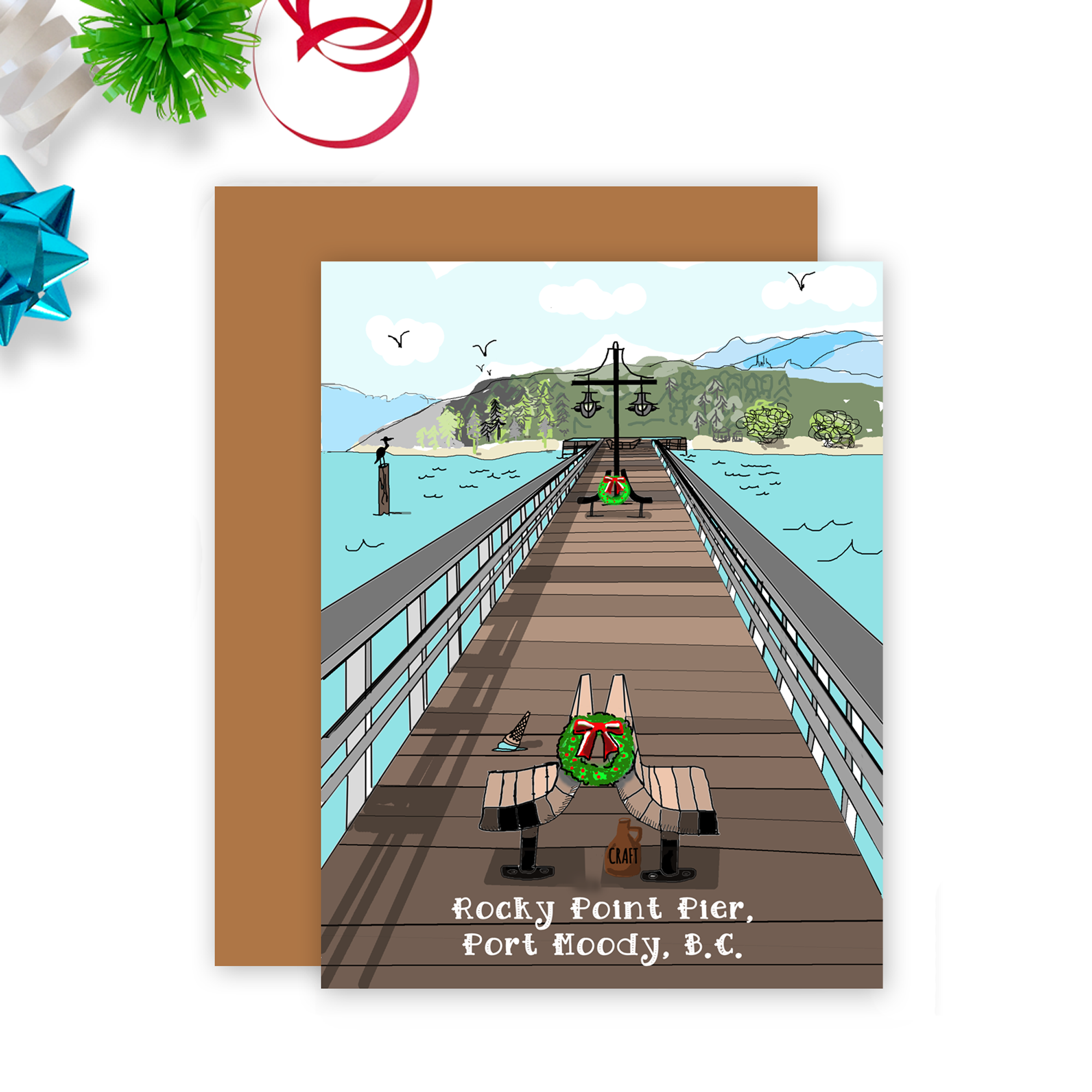 Port Moody Rocky Point Pier Christmas Card