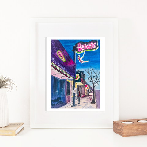 Burnaby Heights - Helen (The Swinging Girl) Print