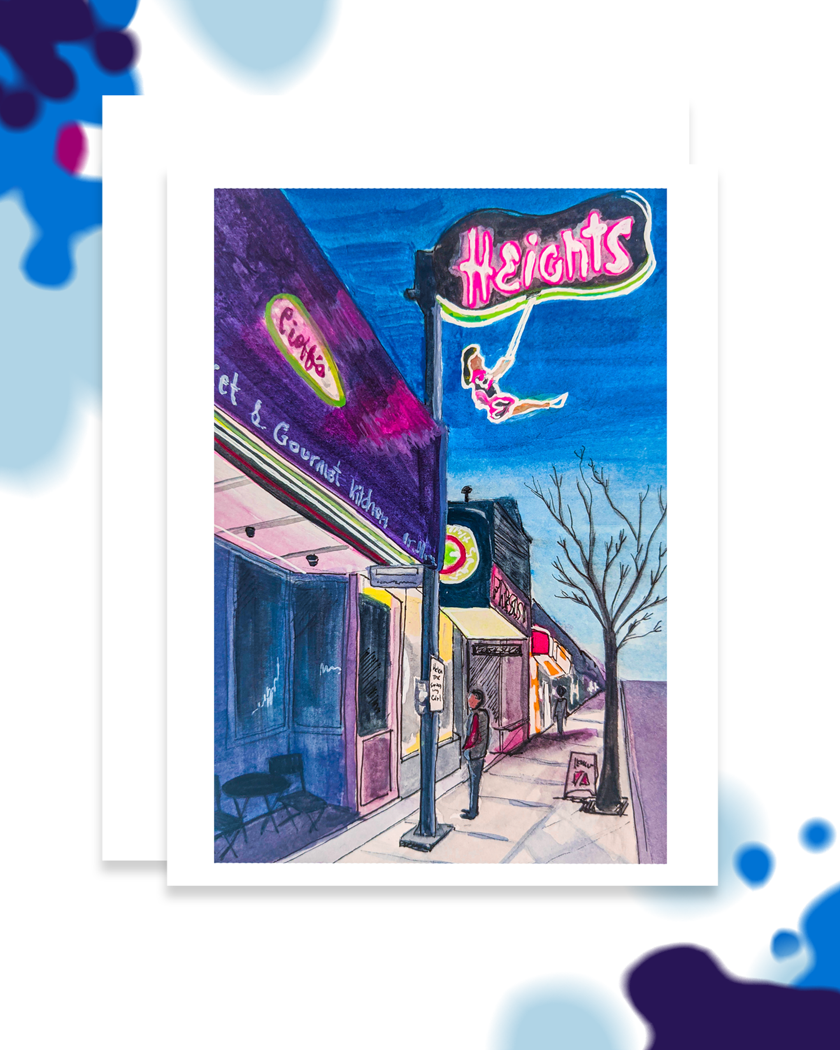 (Helen) The Swinging Girl -Burnaby Heights Card