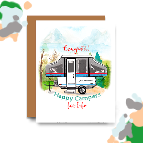 Happy Campers For Life Card